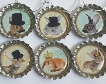 Bunny Wine Charms Bunny Gifts