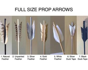 Costume Archery Arrow; Prop Arrow, Full-length Costume Arrow: Black Arrow, Silver Arrow, Feathered Arrow, Arrow Costume Prop