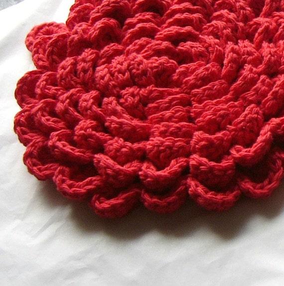 crochet pattern grand fleur flower blossom pot holder hot pad. Black Bedroom Furniture Sets. Home Design Ideas