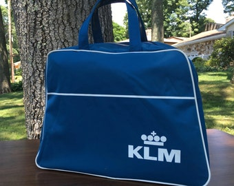Vintage KLM Airlines Travel Bag Tote