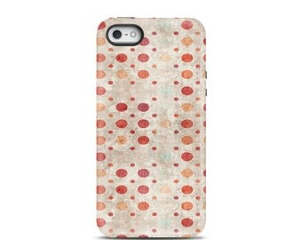 iPhone 5 case, iPhone 6 case, iPhone 6 Plus case, iPhone 5s case, iPhone 7 case, iPhone 7 Plus case tough, phone case - Polka Dots