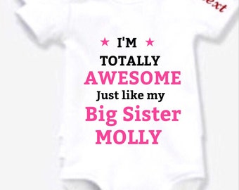 Awesome nanny Auntie OR Any team BODYSUIT choose any slogan any child's name