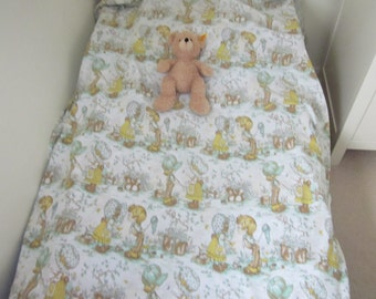 Sarah Kay  Holly Hobbie Single Twin Duvet Cover,  70's Children's Bedding Or Project Fabric