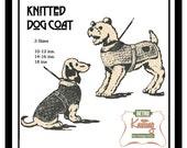 Dog Coat Knitting Pattern - PDF Knitting Pattern - PDF Instant Download