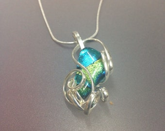 Dichroic Glass funky pendant
