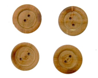 Lathe Turned Wooden Buttons Cherry Wood