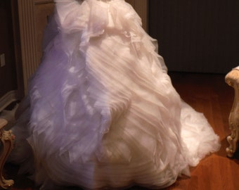 Wedding skirt, organza wedding dress - skirt only