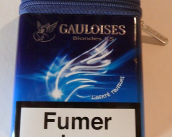 Gauloise cigarette zippered tin box