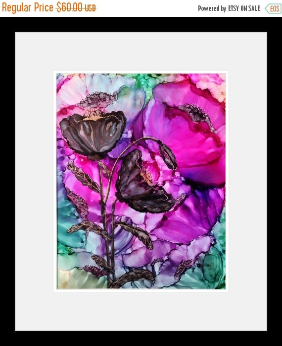 Holiday Sale Alcohol Ink Original Abstract Painting