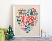 Christmas Heart - Cross Stitch Pattern (Digital Format - PDF)