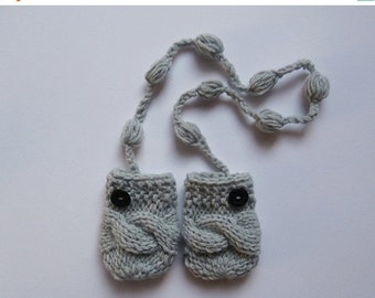 SPRING SALE 15% OFF Knit Baby Mittens , Baby Boy Mittens ,Baby Thumbless Mittens, Warm Baby Mitts