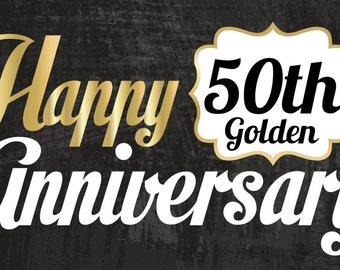 Custom Happy 50th Anniversary Banner