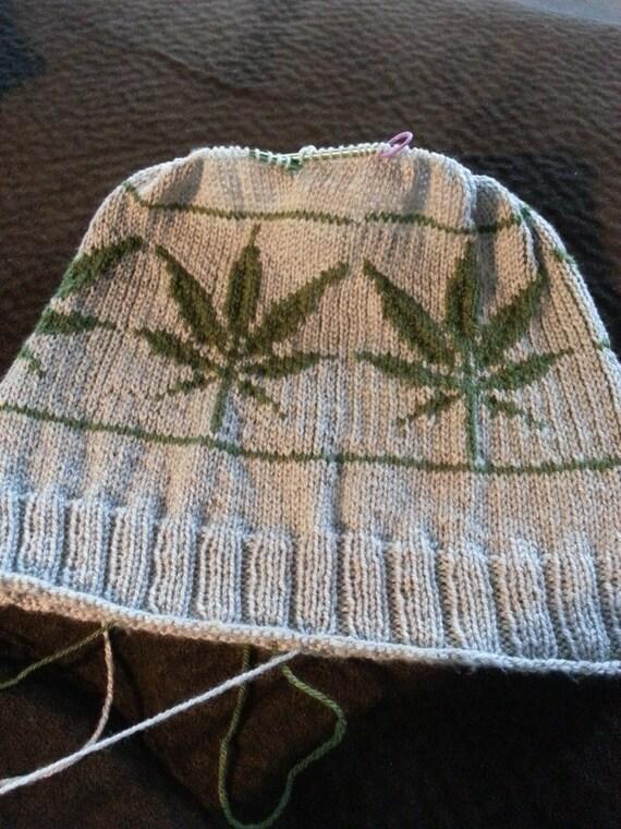 Pot Leaf Knitting Pattern : Knitting Pattern: Marijuana Leaf Hat Adult Size