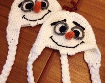 Olaf Inspired Halloween/Winter hat