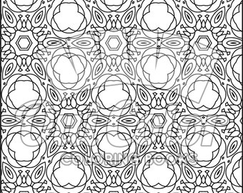 Pattern No.03 from Doodles Coloring Book (Volume 1)