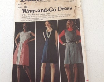 Pattern  Butterick Wrap - and - Go Dress By The Fashion One