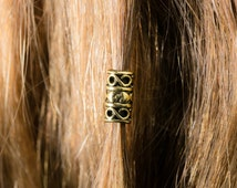 The Grund Beard Bead Kit GOLD color Viing beard bead dwarf dwarvish Celtic beard beading beard kit pirate beard beads