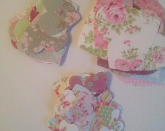 100 Hearts, Die Cut  Hearts, 3 Sizes Regular Shape Hearts, card making, wedding, confetti