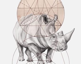 He Was Misunderstood Rhino Print