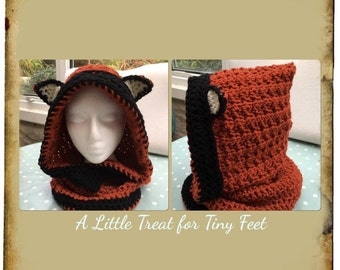 Crocheted Fox snood