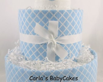 Boy diaper cake | Blue diaper cake | Baby Diaper Cake | Baby Shower Decoration | New Mom Gift | Baby Shower Gift | Baby Sprinkle gift