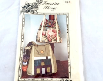 Favorite Things A Bonnie Bag Pattern, Handbag Pattern, Purse Pattern, Sewing Pattern, Quilt Handbag, Quilted Tote Bag, Shoulder Bag