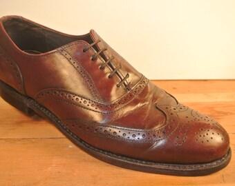 Dexter Burgundy Wingtip Balmoral Dress Shoe Size 8.5 D