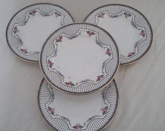 4 Vintage Shelley Tea Plates
