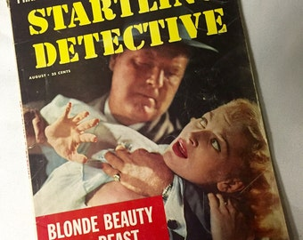 Vintage Magazine- Startling Detective - August 1959