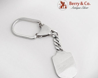 SaLe! sALe! Key Chain Tag Sterling Silver Italy 1970