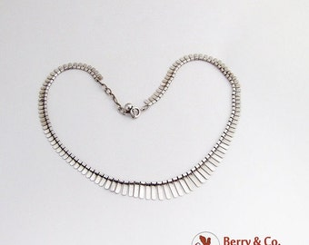 SaLe! sALe! Arts And Crafts Sterling Silver Link Necklace 1940