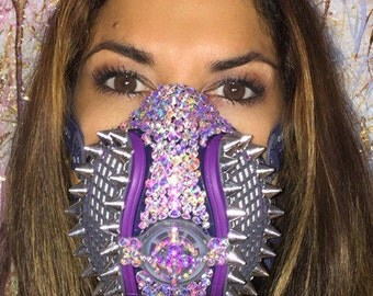 BURNING MAN Dust Mask by Leiluna.  Free shipping around the USA