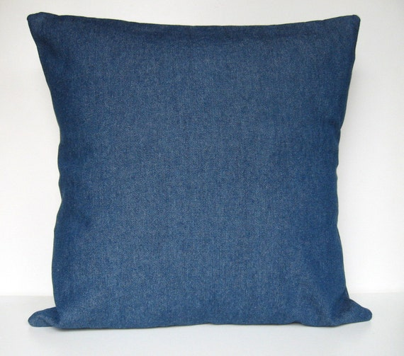 Denim Pillow Cover Throw Pillow Pillow Cover by APassion4Pillows