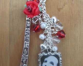 Phantom of the Opera Charms Antique Silver Plated Bookmark