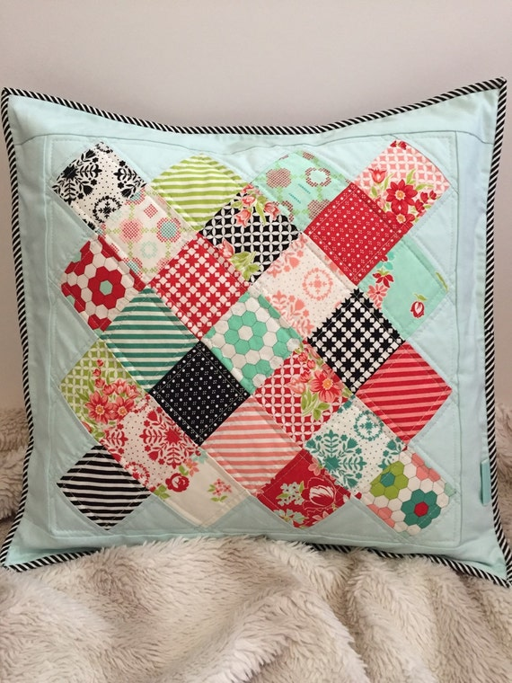 Quilted Decorative Pillow Covers : Handmade Pillow COVER Quilted Pillow COVER Quilted Throw
