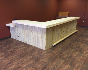 The Lounge - Up to 20' rustic retail sales counter, reception desk, pos area, or bar