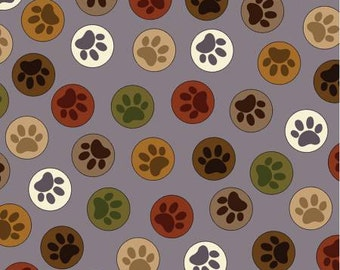 Grey Gray Paws to You print from the Dog Gonnit Collection by Kanvas