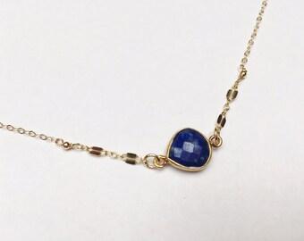 Sapphire Bezel Necklace