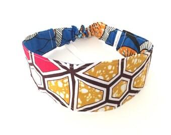 S-M  H6 Reversible Headband,african fabric headband, womens headband, girls headband,head band, yoga headband, dreadlock headband