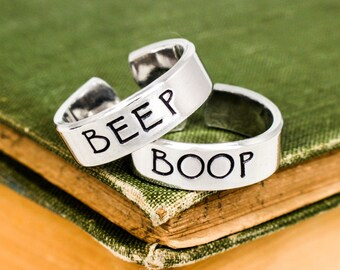 Beep and Boop Robot Rings