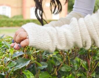 Fingerless Gloves, Knit Fingerless Gloves, Hand Warmers, Long Gloves, Long Fingerless Gloves, Knit Arm Warmers, Hand Knitted Gloves