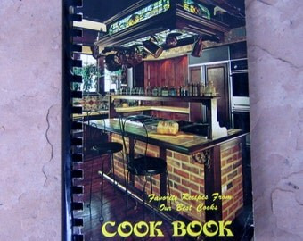 Church Cookbook, Favorite Recipes From Our Best Cooks Cookbook, 1980 Church Cookbook, Vintage Cook Book