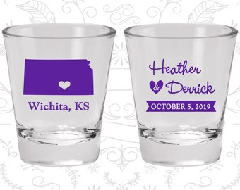 Kansas Shot Glass, Kansas Shot Glasses, Kansas Glass, Kansas Glasses, Kansas Glassware (115)