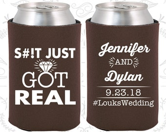just got real personalized wedding fun wedding favors gift and mementos funny