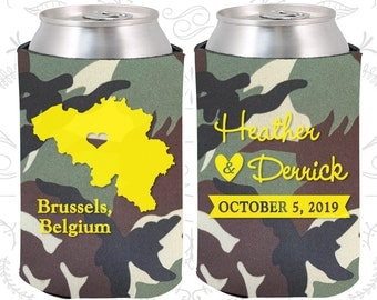 Camouflage Wedding, Can Coolers, Camouflage Wedding Favors, Camouflage Wedding Gift, Camouflage Party Decor (161)