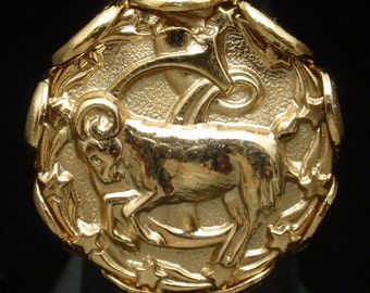 Napier Zodiac Ring Capricorn the Goat Adjustable