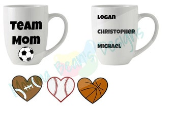 Team Mom custom mug