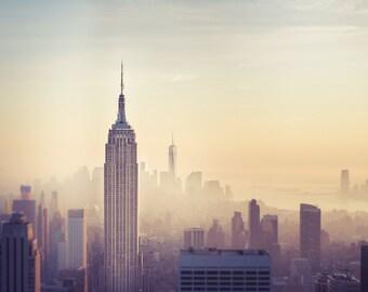 "New York City Photography, Empire State Building, New York Skyline, NYC Art, Manhattan, NY Wall Decor, Empire State Building Print, ""Empire"""
