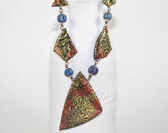 Painted Paisley Necklace