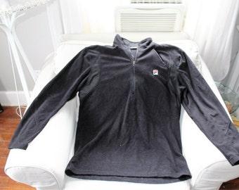 fila fleece pullover jacket size l